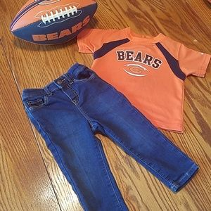 NFL Chicago Bears shirt and Baby B'gosh jeans